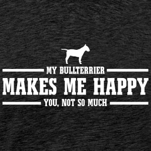 BULLTERRIER makes me happy - Men's Premium T-Shirt