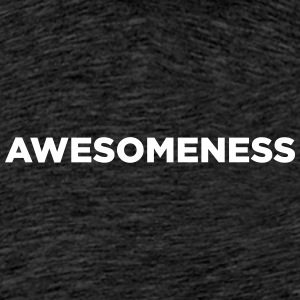 awesomeness - Premium T-skjorte for menn