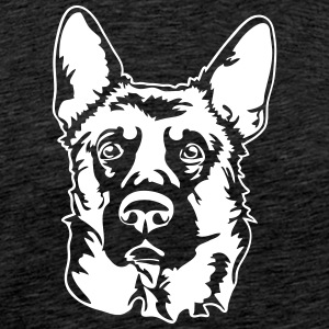 GERMAN SHEPHERD PORTRAIT - T-shirt Premium Homme