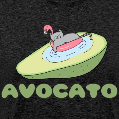 Avocato Cat Katze - Männer Premium T-Shirt