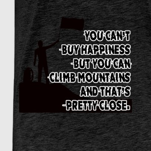 You can not buy happiness but climbing - Men's Premium T-Shirt