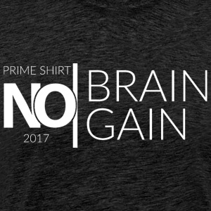 No Brain, No Gain - 2017 Collection - Hvit - Premium T-skjorte for menn