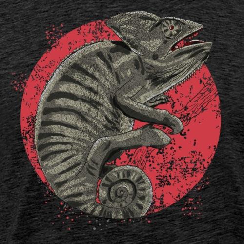 Chameleon in graubraun - Männer Premium T-Shirt