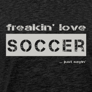 love SOCCER - bright T-shirt - Men's Premium T-Shirt