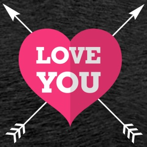 Love you coeur - T-shirt Premium Homme