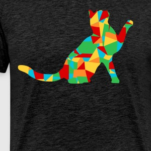 veelhoek cat - Mannen Premium T-shirt