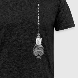 Around The World: Torre della TV - Berlino - Maglietta Premium da uomo