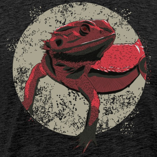 Bartagame in rot - Männer Premium T-Shirt