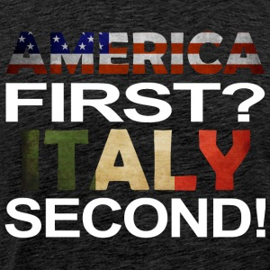 America first Italy second - Männer Premium T-Shirt