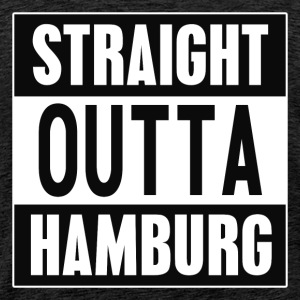 Straight outta Hamburg - Premium T-skjorte for menn
