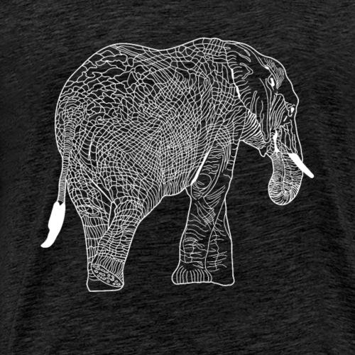 weißer Elefant - Männer Premium T-Shirt