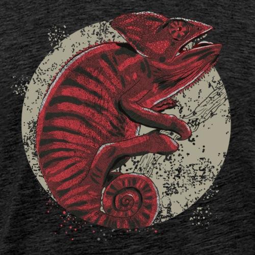Chameleon in rot - Männer Premium T-Shirt