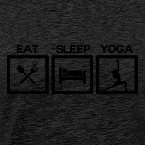 Eat Sleep Yoga - Cycle! - Men's Premium T-Shirt