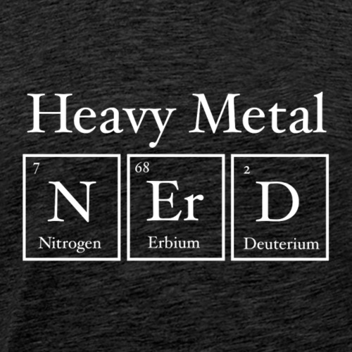 Heavy Metal Nerd - Men's Premium T-Shirt