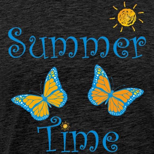Sommer, Sonne, Wärme, Wasser und Strand - Männer Premium T-Shirt