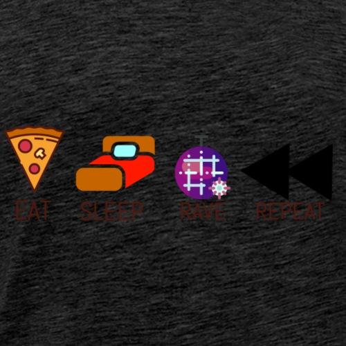 Eat sleep rave repeat - Men's Premium T-Shirt