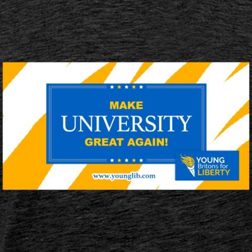 MUGA: Make University Great Again - Men's Premium T-Shirt