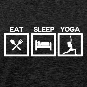 Eat Sleep Yoga - Cycle - Men's Premium T-Shirt