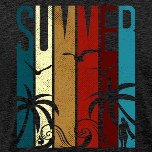 Summer Beach Surfing - Männer Premium T-Shirt