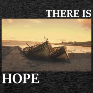 There_is_hope_picture_white_letters - Premium T-skjorte for menn