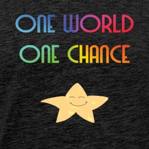 One World One Chance - Herre premium T-shirt