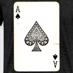 Spil Card Ace Of Spades - Herre premium T-shirt