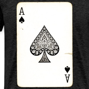 Spill kort Ace Of Spades - Premium T-skjorte for menn