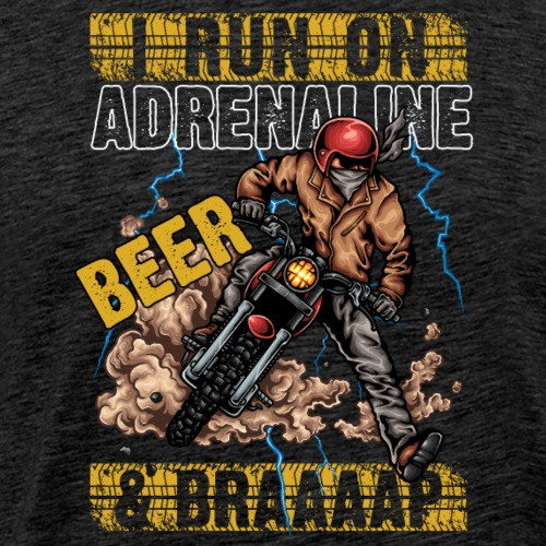Motocross BEER And BRAAAAAP - Männer Premium T-Shirt