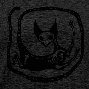Skeleton Cat - Herre premium T-shirt