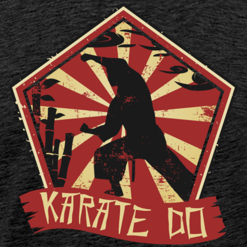 Karate Do Siegel Rot gelb - Männer Premium T-Shirt