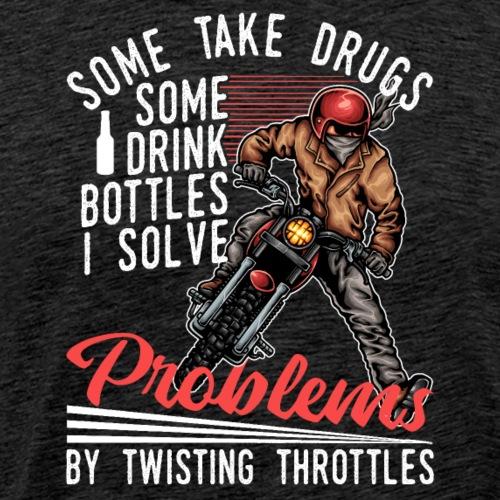 Motocross Dirt Bike Solve Problems - Männer Premium T-Shirt