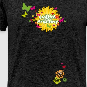 Finally spring blossoms butterflies Easter - Men's Premium T-Shirt