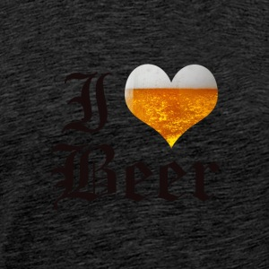 I LOVE BEER OLD ENGLISH - Men's Premium T-Shirt