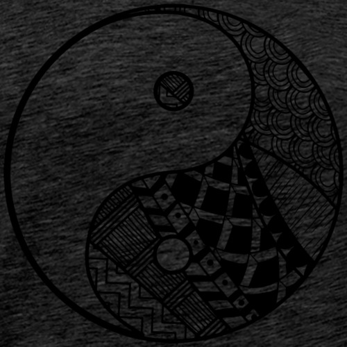 Decorative-Yin-Yang - Herre premium T-shirt