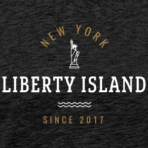 NEW YORK - Liberty Island - Herre premium T-shirt