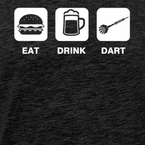 Eat Drink Dart - Männer Premium T-Shirt