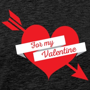 For min Valentine Heart - Premium T-skjorte for menn