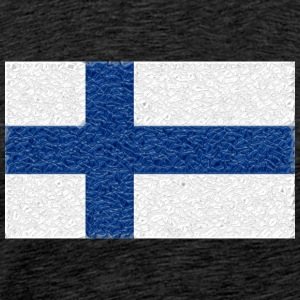 Finland flag crystal - Men's Premium T-Shirt