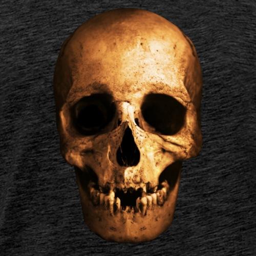 Mänskligt Kranium - Premium-T-shirt herr