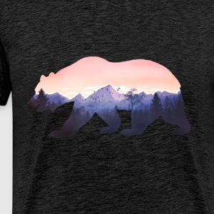 supporter montagnes grizzly sauvages rocheuse nature fraîche forêt fun - T-shirt Premium Homme