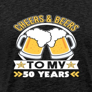 50th birthday beers - Men's Premium T-Shirt
