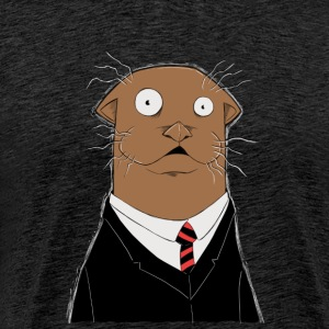 Office Otter - Premium-T-shirt herr