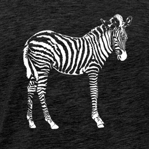 zebra weiß - Männer Premium T-Shirt