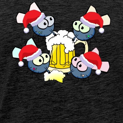 Weihnachts Mücken Biertrinker