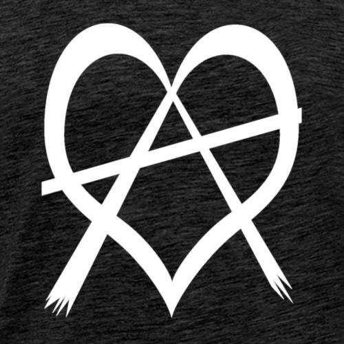 love anarchy white - Männer Premium T-Shirt