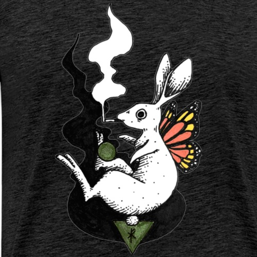 Smoking Rabbit - Männer Premium T-Shirt