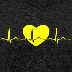 ECG HEART LINE yellow - Men's Premium T-Shirt