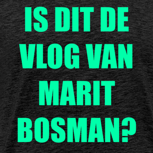 IS DIT DE VLOG VAN MARIT BOSMAN (OFFICAL) LIME - Mannen Premium T-shirt