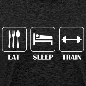 Eat, Sleep, Train - Premium T-skjorte for menn
