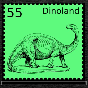 Dino Land Stamp - Premium T-skjorte for menn